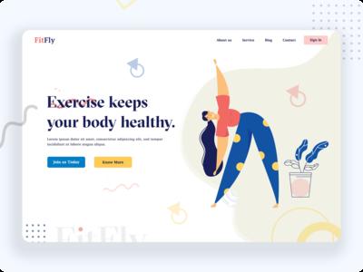 Fitness Header Concept!