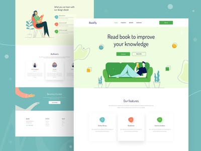 Bookfly Landing Page Design Concept