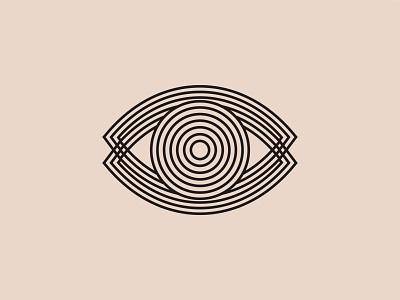Eye Illusion Icon logo mark cbd cannabis shapes modern iconography eye icon logo tarot occult mystical illusion icon eye
