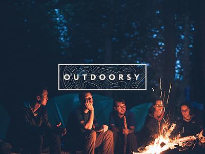 Outdoorsy Branding web design camping hiking adventures outside logo branding outdoorsy