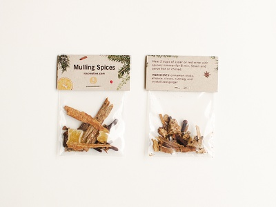ICS Mulling Spices spice packaging design packaging design studio holiday promo mulling spices
