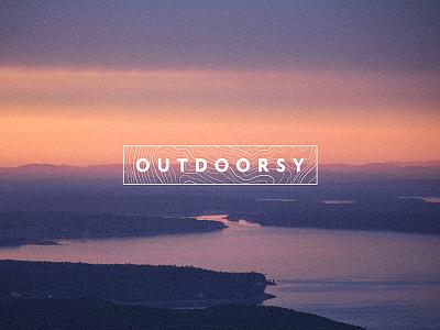 Outdoorsy Brand Identity brand identity national parks ui design acadia hiking camping adventure logo outdoorsy