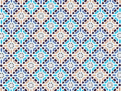 Moroccan Pattern abstract shape geometric pattern design textile print tile morocco pattern