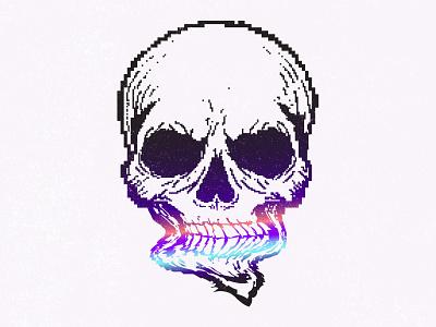 Happy Halloween! illustration creepy halloween2019 halloween horror pixelart pixel skull dribbbleweeklywarmup