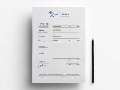 IGC Education Invoice v.2