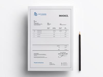 IGC Education Invoice v.3