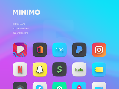 Minimo 5.0 Is Finally Here vector illustration design minimal a random package icon pack icons android