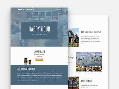 Website Redesign (Unsolicited) cards redesign blue maui brewing co web design maui