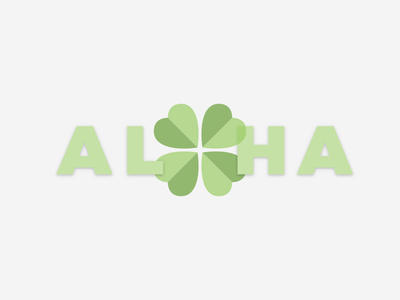 Happy St. Patrick's Day From Maui typography shamrock aloha st patricks day