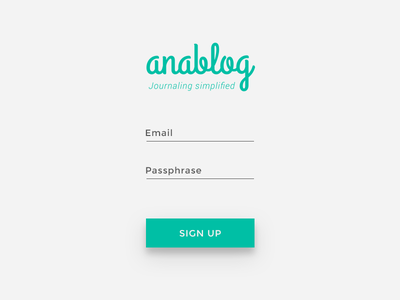 Daily UI #001 - Sign Up signup teal challenge daily journal dailyui