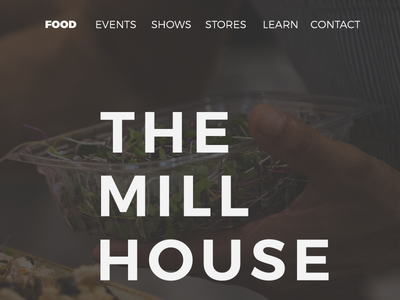 Daily UI #003 - Landing Page mill house maui landing page challenge daily dailyui