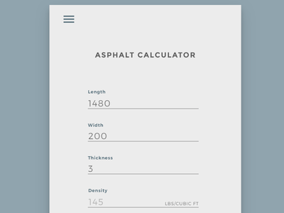 Daily UI #004 - Calculator minimal ui asphalt calculator challenge daily dailyui