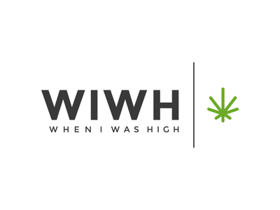 When I Was High Logo marijuana montserrat cannabis brand logo typography