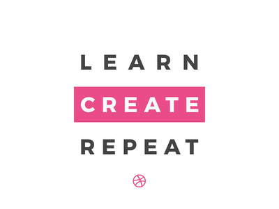 Learn Create Repeat create sticker mule typography design process dribbble