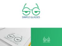 Simple glasses logo