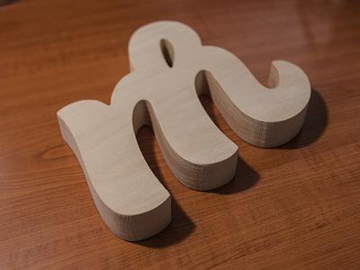 Wood logo identity logo monogram wood custom cut