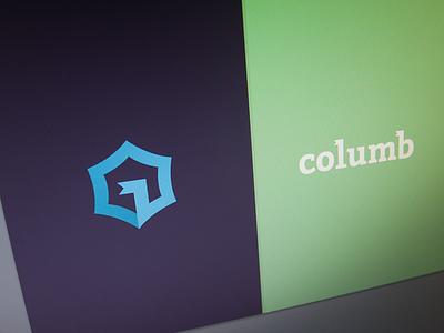 Columb branding mark logo clean identity logotype event app