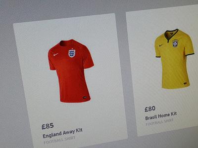Product Box product box web shop ecommerce football shirt england brasil