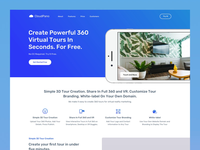 CloudPano Landing Page Interactions