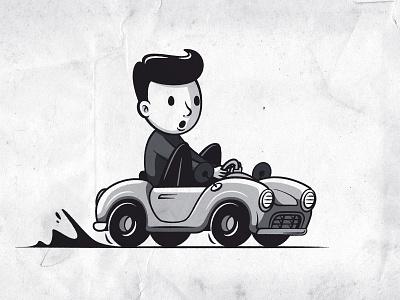 Barnabé's car drawing illustrationdrawing blackandwhite characterdesign character cardesign illustrator illustration