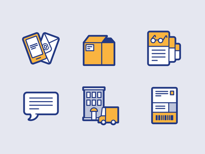 Lost and Founds app icons lost and found object packaging delivery