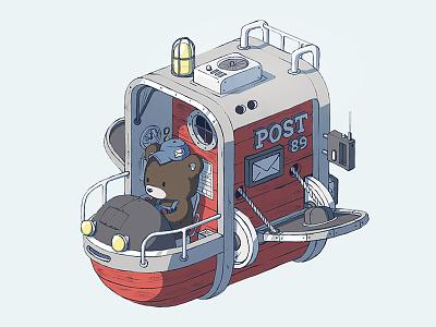 Post machine flying-machine post gears machine bear