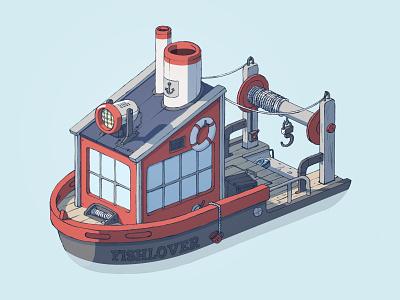 Fishing Boat fishing boat illustration