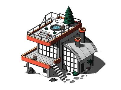 Bear building #1 building houses photoshop bear bears illustration