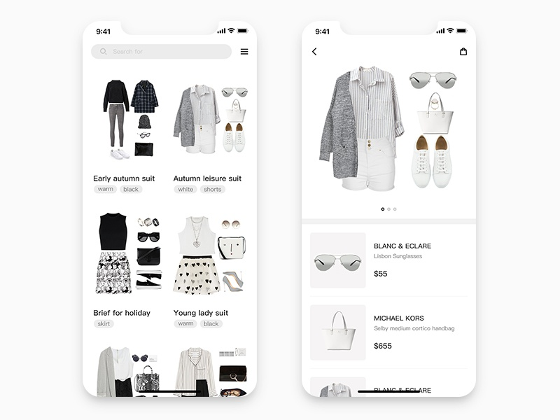 Daily UI #02. Clothing collocation shopping ui daily collocation