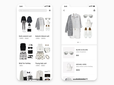 Daily UI #02. Clothing collocation