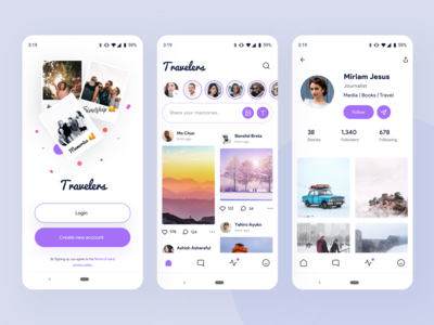 Travelers | social media app exploration