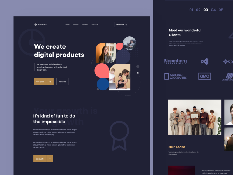 Design Agency -2 client dark theme fun designs people development create all works quote digital designer vector branding typography web iphone design mobile illustration sudhan
