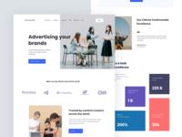 Advertising website concept
