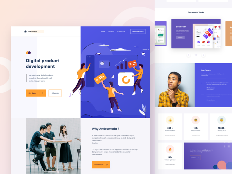 Digital agency - 3 bluetooth yelloow call to action clouds levitation website photograph dribbble blue space nice100 vector branding typography design app mobile illustration sudhan