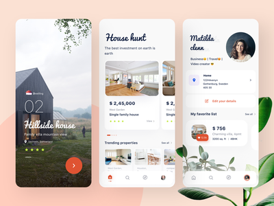 Real estate app concept house illustration houses abstract house ps vector mobile web logo branding ui typography design app sudhan illustration