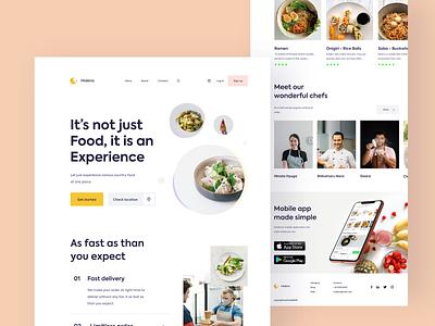 Malena web exploration foodie get started psychology people branding vector food webbb chef food and drink japanese logo web typography sudhan restaurant food