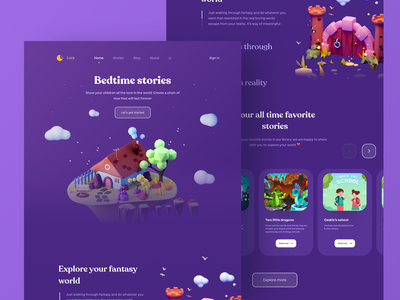 Bedtime stories lucy moral values childhood comics animation 2d school animation fantasy sudhan typography branding illustration blender web nighttime stories bedtime