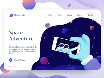 landing page   space adventure planets in sign selfie adventure space page landing