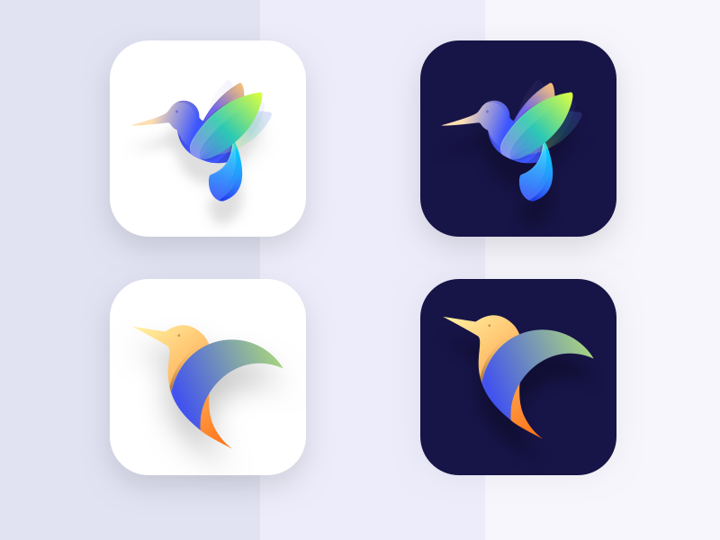 Icon exploration | humming bird mobile app 2017 practice december icon bird humming