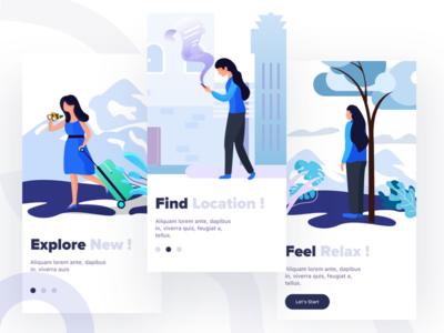 traveling app illustration