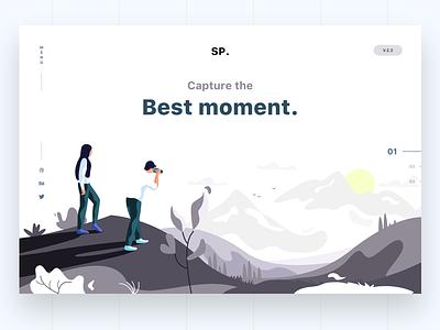 web photography friends apple mountain illustration header web sudhan . sp