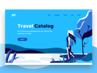 Travel web header illustration