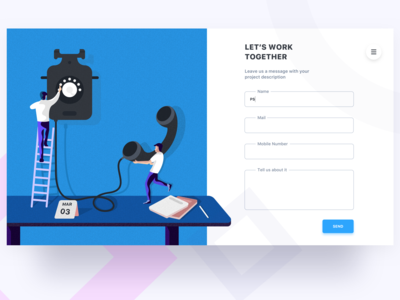 startup illustration - contact page