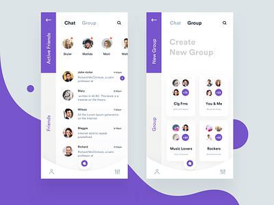 messaging app exploration ps app minimal chat message ui design iphone mobile ios sudhan
