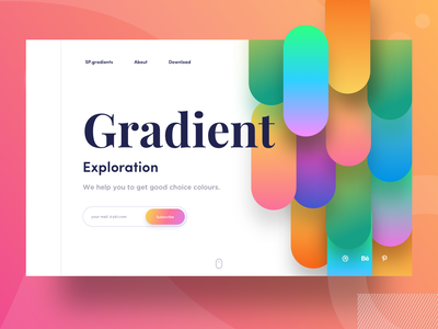 Gradients sudhan ghani help banner design iphone ps illustration grabient exploration typography people colors web gradients