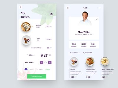 Recipe app 5 order space profile ps typography vector liquid nice 100 food she illustration logo iphone web sudhan app restaurant