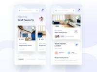 Rentals app | home screen