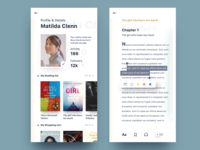 Book app | Profile & reading page
