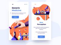 Medical app screens
