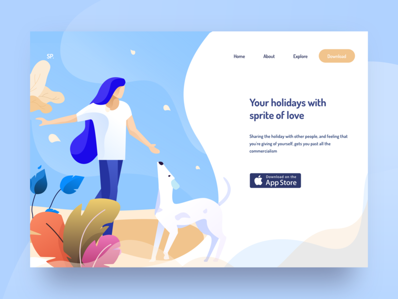 holiday illustration travel agency valentine love app store nice100 download dribbble explore sprite plants dog traveling branding vector typography design ps sudhan mobile illustration